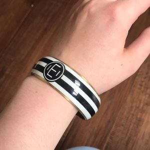 "Mud pie ""E"" Monogram Bangle"